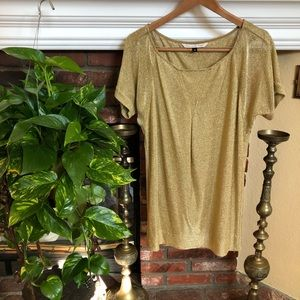 DVF Gold Short Sleeve Tunic